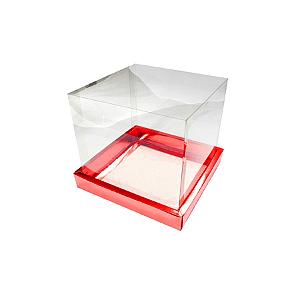 Caixa para Panetone 100g (10cm x 10cm x 10cm) Vermelha 10 unidades Assk Rizzo Confeitaria