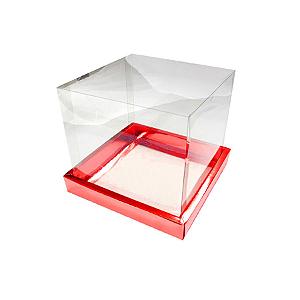 Caixa para Panetone 250g (12cm x 12cm x 12cm) Vermelha 05 unidades Assk Rizzo Confeitaria