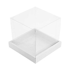 Caixa para Panetone 500g (15cm x 15cm x 15cm) Branca 5 unidades Assk Rizzo Confeitaria