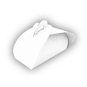 Caixa Sacolinha 6 Brigadeiros (8cm x 12cm x 6,5cm) Branca 10 unidades Assk Rizzo Confeitaria
