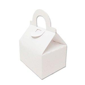 Caixa Sacolinha AS5 (6cm x 8cm x 8cm) Branco 10 unidades Assk Rizzo Confeitaria