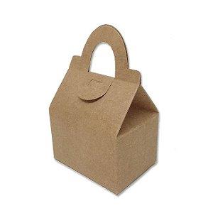 Caixa Sacolinha AS5 (6cm x 8cm x 8cm) Kraft 10 unidades Assk Rizzo Confeitaria