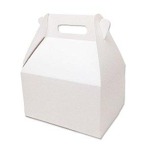 Caixa Sacolinha S11 (15,9cm x 17cm x 10,2cm) Branca 10 unidades Assk Rizzo Confeitaria