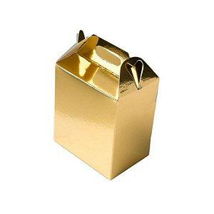 Caixa Sacolinha S11 (15,9cm x 17cm x 10,2cm) Dourada 10 unidades Assk