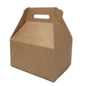 Caixa Sacolinha S11 (15,9cm x 17cm x 10,2cm) Kraft 10 unidades Assk Rizzo Confeitaria