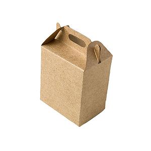 Caixa Sacolinha S1 (9,5cm x 6,5cm x 4,5cm) Kraft 10 unidades Assk Rizzo Confeitaria