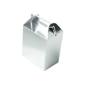 Caixa Sacolinha S1 (9,5cm x 6,5cm x 4,5cm) Prata 10 unidades Assk Rizzo Confeitaria