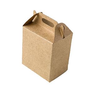 Caixa Sacolinha S2 (14cm x 11cm x 6cm) Kraft 10 unidades Assk Rizzo Confeitaria