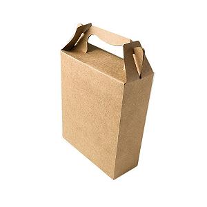 Caixa Sacolinha S3 (18cm x 16m x 6cm) Kraft 10 unidades Assk Rizzo Confeitaria