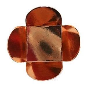 Forminha para Doces 4 Pétalas (3,5cm x 3,5cm x 2,5cm) Bronze 50 unidades Assk Rizzo Confeitaria