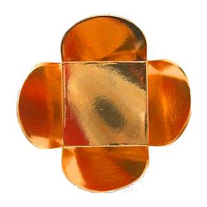 Forminha para Doces 4 Pétalas (3,5cm x 3,5cm x 2,5cm) Cobre 50 unidades Assk Rizzo Confeitaria