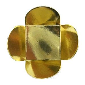 Forminha para Doces 4 Pétalas (3,5cm x 3,5cm x 2,5cm) Dourada 50 unidades Assk Rizzo Confeitaria