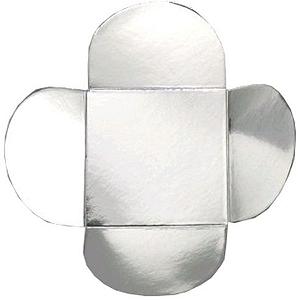 Forminha para Doces 4 Pétalas (4cm x 4cm x 3cm) Prata 50 unidades Assk Rizzo Confeitaria