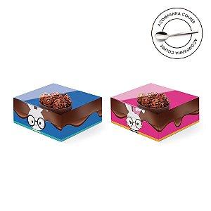 Caixa Meio Ovo de Colher 50g New Practice Páscoa Cores - 6 unidades - 11,5cmx9cmx5,5cm - Cromus Páscoa - Rizzo Confeitaria