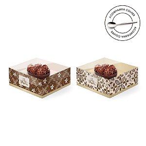 Caixa Meio Ovo de Colher 50g New Practice Chocolate - 6 unidades - 11,5cmx9cmx5,5cm - Cromus Páscoa - Rizzo Confeitaria