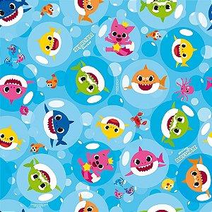 Folha para Embalar Ovos de Páscoa Baby Shark 69x89cm - 05 unidades - Cromus Páscoa - Rizzo Confeitaria