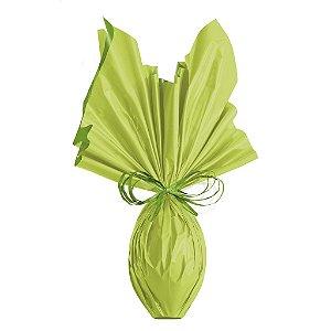 Folha para Embalar Ovos de Páscoa Double Face Acetinado Verde/Verde 69x89cm - 05 unidades - Cromus Páscoa - Rizzo Confeitaria