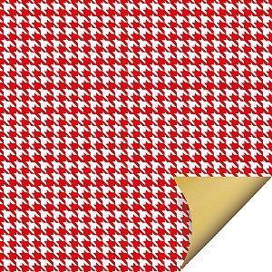 Folha para Embalar Ovos de Páscoa Double Face Tweed Vermelho 69x89cm - 05 unidades - Cromus Páscoa - Rizzo Confeitaria