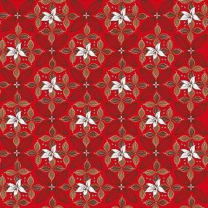 Folha para Embalar Ovos de Páscoa Flor de Cacau Vermelho 69x89cm - 05 unidades - Cromus Páscoa - Rizzo Confeitaria