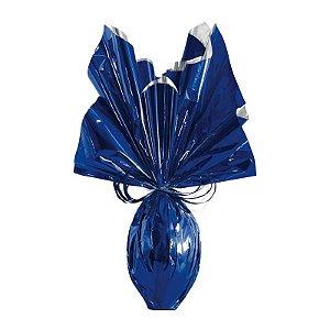 Folha para Embalar Ovos de Páscoa Metalizado Azul Intenso 69x89cm - 05 unidades - Cromus Páscoa - Rizzo Confeitaria