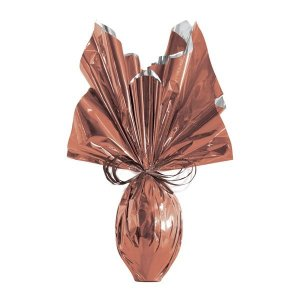 Folha para Embalar Ovos de Páscoa Metalizado Bronze 69x89cm - 05 unidades - Cromus Páscoa - Rizzo Confeitaria