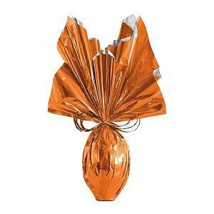 Folha para Embalar Ovos de Páscoa Metalizado Laranja 69x89cm - 05 unidades - Cromus Páscoa - Rizzo Confeitaria