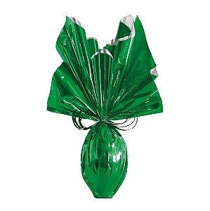 Folha para Embalar Ovos de Páscoa Metalizado Verde 69x89cm - 05 unidades - Cromus Páscoa - Rizzo Confeitaria