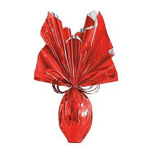 Folha para Embalar Ovos de Páscoa Metalizado Vermelho 69x89cm - 05 unidades - Cromus Páscoa - Rizzo Confeitaria