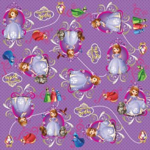 Folha para Embalar Ovos de Páscoa Reino de Sofia 69x89cm - 05 unidades - Cromus Páscoa - Rizzo Confeitaria