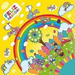 Saco Express para Ovos de 100g a 150g  - 24cm x 24cm - Bom Dia Amarelo - 05 unidades - Cromus Páscoa - Rizzo Confeitaria