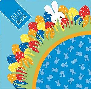 Saco Express para Ovos de 100g a 150g  - 24cm x 24cm - Pic Esconde Azul - 05 unidades - Cromus Páscoa - Rizzo Confeitaria