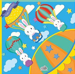 Saco Express para Ovos de 150g a 200g  - 32cm x 32cm - Balão Mágico Azul - 05 unidades - Cromus Páscoa - Rizzo Confeitaria