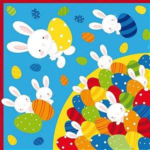 Saco Express para Ovos de 150g a 200g  - 32cm x 32cm - Piscina de Ovos Azul - 05 unidades - Cromus Páscoa - Rizzo Confeitaria