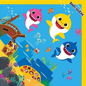 Saco Express para Ovos de 250g a 350g - 35cm x 35cm - Baby Shark - 05 unidades - Cromus Páscoa - Rizzo Confeitaria