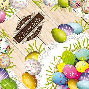 Saco Express para Ovos de 250g a 350g - 35cm x 35cm - Chocoarte - 05 unidades - Cromus Páscoa - Rizzo Confeitaria