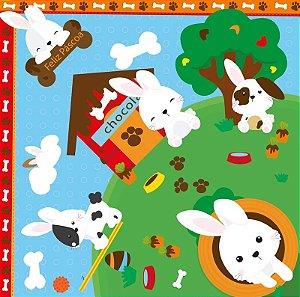 Saco Express para Ovos de 250g a 350g - 35cm x 35cm - Coelho Pet - 05 unidades - Cromus Páscoa - Rizzo Confeitaria