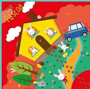 Saco Express para Ovos de 250g a 350g - 35cm x 35cm - Doce Lar - 05 unidades - Cromus Páscoa - Rizzo Confeitaria