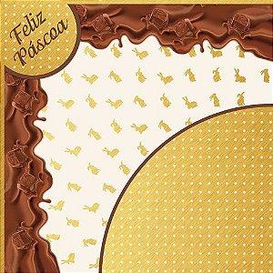 Saco Express para Ovos de 750g a 1Kg  - 49cm x 49cm - Coleção Elis - 05 unidades - Cromus Páscoa - Rizzo Confeitaria