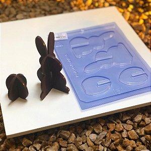 Forma Coelho e Ovinho 3D Porto Formas Ref 151 Rizzo Confeitaria