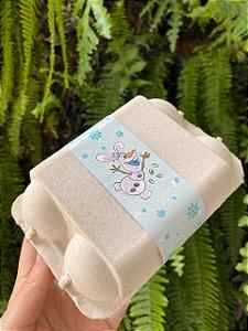 Tiras de Páscoa Boneco de Neve  Feliz Páscoa para Embalagens com 5un. Rizzo Confeitaria
