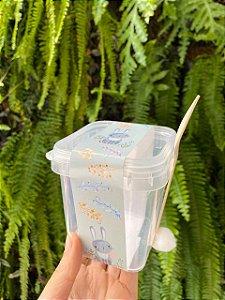 Tiras de Páscoa Coelho Cinza com Flores para Embalagens com 5un. Rizzo Confeitaria
