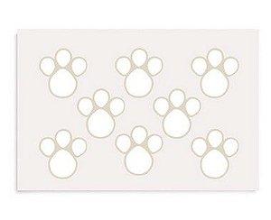 Etiqueta Adesiva de Páscoa Pegadas G Branco com 2 cartelas Cromus Páscoa Rizzo Confeitaria