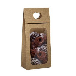 Caixa New Plus para Chocolate com Visor Páscoa Kraft - 10 unidades - 9x5,5x20cm - Cromus Profissional - Rizzo Confeitaria