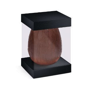 Caixa Ovo em Pé com Visor e Berço 500g Preto - 10 unidades - 13,5x13,5x18,5cm - Cromus Profissional - Rizzo Confeitaria