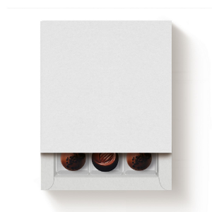 Caixa 9 Doces Quadrada Branco com Luva - 10 unidades - 13x13x4cm - Cromus Profissional - Rizzo Confeitaria