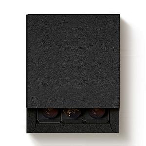 Caixa 9 Doces Quadrada Preto com Luva - 10 unidades - 13x13x4cm - Cromus Profissional - Rizzo Confeitaria