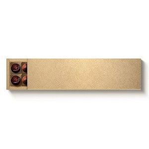 Caixa 20 Doces Retangular Kraft com Luva - 10 unidades - 39x9,5x4cm - Cromus Profissional