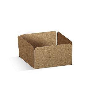Forminha Reta para Pão de Mel Kraft  - 100 unidades - 7,3x7,3x3,5cm - Cromus Profissional - Rizzo Confeitaria
