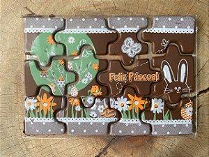 Blister Decorado de Páscoa com Transfer para Chocolate Quebra Cabeça BLP0117 Stalden Rizzo Confeitaria
