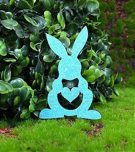 Aplique Coelhinhos em MDF Glitter Azul Claro - Sonho Fino Rizzo Confeitaria
